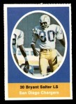 1972 Sunoco Stamps  Bryant Salter  Front Thumbnail