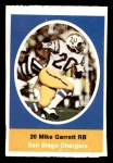 1972 Sunoco Stamps  Mike Garrett  Front Thumbnail