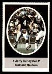 1972 Sunoco Stamps  Jerry DePoyster  Front Thumbnail