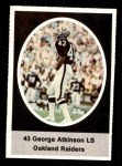 1972 Sunoco Stamps  George Atkinson  Front Thumbnail