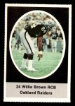 1972 Sunoco Stamps  Willie Brown  Front Thumbnail
