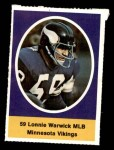 1972 Sunoco Stamps  Lonnie Warwick  Front Thumbnail