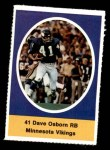 1972 Sunoco Stamps  Dave Osborn  Front Thumbnail