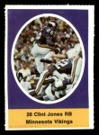 1972 Sunoco Stamps  Clint Jones  Front Thumbnail