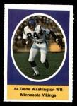 1972 Sunoco Stamps  Gene Washington  Front Thumbnail