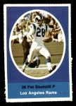1972 Sunoco Stamps A Pat Studstill  Front Thumbnail