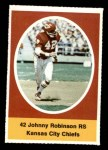1972 Sunoco Stamps  Johnny Robinson  Front Thumbnail