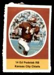 1972 Sunoco Stamps  Ed Podolak  Front Thumbnail