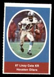 1972 Sunoco Stamps  Linzy Cole  Front Thumbnail
