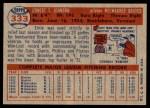 1957 Topps #333  Ernie Johnson  Back Thumbnail