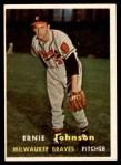 1957 Topps #333  Ernie Johnson  Front Thumbnail