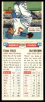 1955 Topps DoubleHeader #85 / 86 -  Elmer Valo / Hector Brown  Back Thumbnail