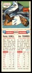 1955 Topps DoubleHeader #81 #82 Danny Schel / Gus Triandos  Back Thumbnail