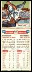 1955 Topps DoubleHeader #101 #102 Bill Wilson / Bill Tremel  Back Thumbnail