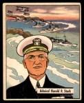 1941 Gum Inc. War Gum #3   Admiral Harold R. Stark Front Thumbnail