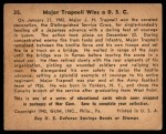 1941 Gum Inc. War Gum #35   Major Trapnell Wins a D.S.C. Back Thumbnail