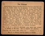 1941 Gum Inc. War Gum #17   The Chiangs Back Thumbnail
