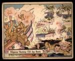 1941 Gum Inc. War Gum #14   Filipinos Destroy 154 Japanese Boats Front Thumbnail