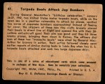 1941 Gum Inc. War Gum #41   Torpedo Boats Attack Japanese Bombers Back Thumbnail