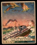 1941 Gum Inc. War Gum #41   Torpedo Boats Attack Japanese Bombers Front Thumbnail