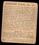 1935 Diamond Stars #83  Paul Waner   Back Thumbnail