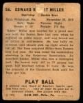 1940 Play Ball #56  Ed Miller  Back Thumbnail