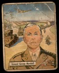 1941 Gum Inc. War Gum #19   General George Marshall Front Thumbnail