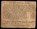 1941 Gum Inc. War Gum #12   Rear Guard Holds Japanese At Bay Back Thumbnail
