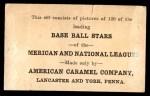1922 E121-120 American Caramel  John Lavan  Back Thumbnail