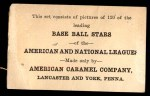 1922 E121-120 American Caramel  Fred Williams  Back Thumbnail
