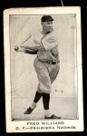 1922 E121-120 American Caramel  Fred Williams  Front Thumbnail