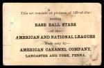 1922 E121-120 American Caramel  Hy Myers  Back Thumbnail