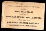 1922 E121-120 American Caramel  Earl Smith  Back Thumbnail