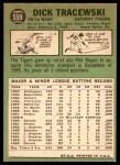 1967 Topps #559  Dick Tracewski  Back Thumbnail