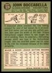 1967 Topps #578  John Boccabella  Back Thumbnail