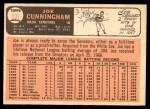 1966 Topps #531  Joe Cunningham  Back Thumbnail