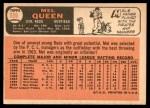1966 Topps #556  Mel Queen  Back Thumbnail