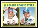 1967 Topps #576   -   Ramon Hernandez / Norm Gigon NL Rookies Front Thumbnail