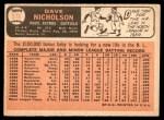 1966 Topps #576  Dave Nicholson  Back Thumbnail