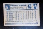 1975 Kellogg's #29  Jose Cardenal  Back Thumbnail