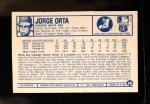 1975 Kellogg's #14  Jorge Orta  Back Thumbnail