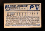 1975 Kellogg's #56  Mike Schmidt  Back Thumbnail