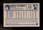 1975 Kellogg's #7  Johnny Bench  Back Thumbnail