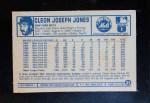 1975 Kellogg's #21  Cleon Jones  Back Thumbnail