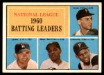 1961 Topps #41   -  Roberto Clemente / Willie Mays / Dick Groat / Norm Larker NL Batting Leaders Front Thumbnail