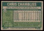 1977 Topps #220  Chris Chambliss  Back Thumbnail