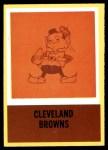 1967 Philadelphia #48   Cleveland Browns Logo Front Thumbnail