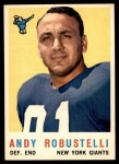 1959 Topps #147  Andy Robustelli  Front Thumbnail
