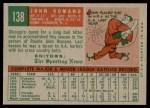 1959 Topps #138  John Romano  Back Thumbnail
