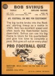1967 Topps #113  Bob Svihus  Back Thumbnail